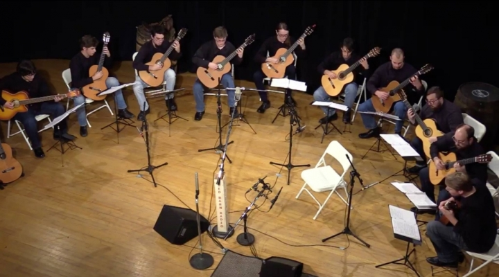The EKU Guitar Ensemble performs live on the Red Barn Radio Show on NPR!